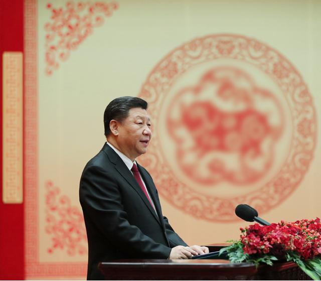 习近平在2019年春节团拜会上发表