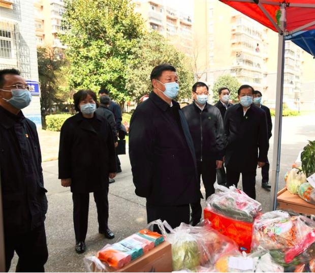 习近平在湖北省考察新冠肺炎疫情